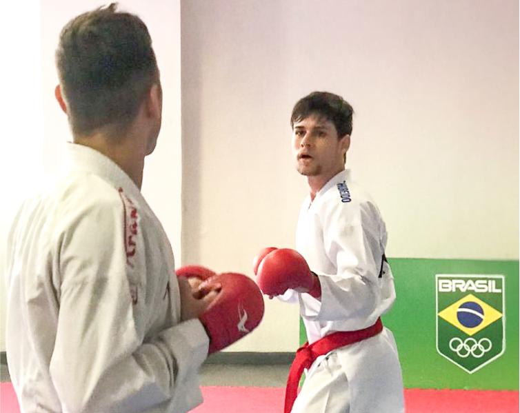 Rafael Nascimento durante etapa de treinamento