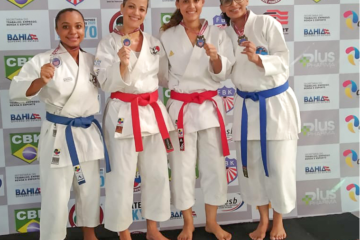 Pódio do Kata sênior no Campeonato Baiano 2019
