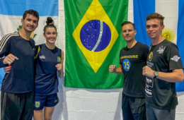 Talisca Reis e Netinho Marques, junto com Nicholas Pigozzi e Juan Miguel, em Miami
