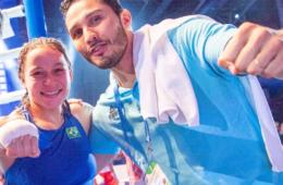 Bia Ferreira e Mateus Alves, após a conquista do título Mundial